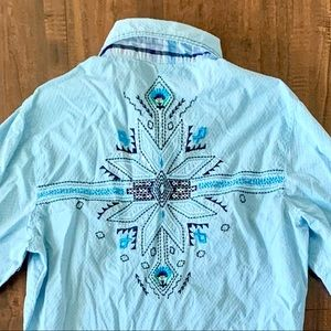 Cowgirl Up Western Style Embellished Top SZ- M